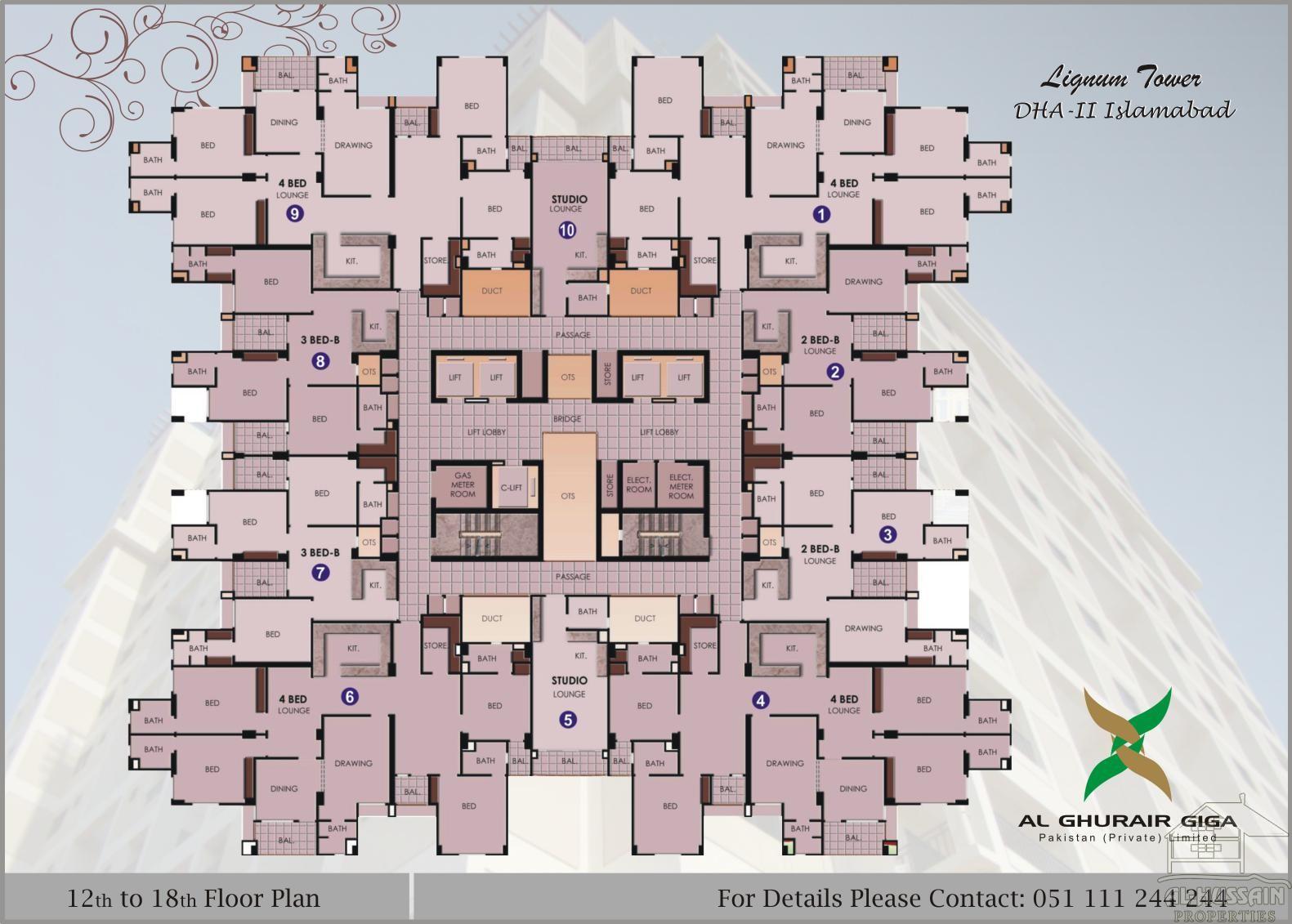 12 to 18 Floor Plan