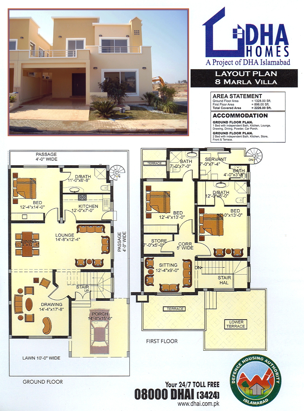 DHA Home 8 Marla Corner & Park Face ( 50 ft wide Road )
