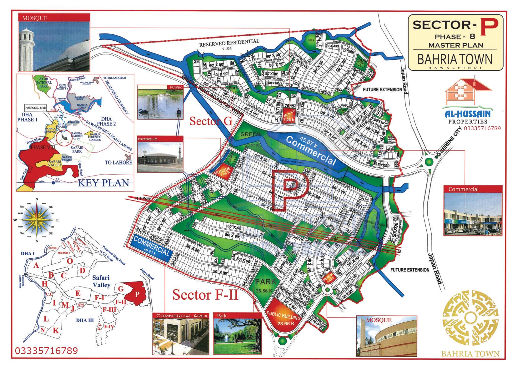 Master Plan Sector P Phase 8 Bahria Town Rawalpindi