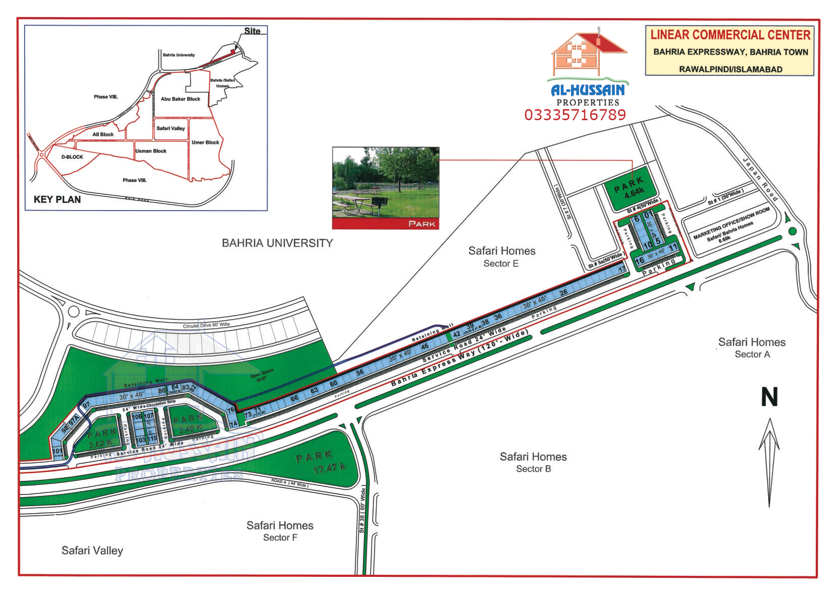 Liner Commercial Center Bahria Expressway, Bahria Town Rawalpindi