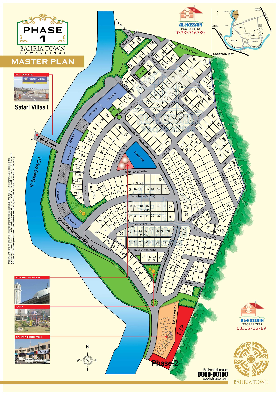 Master Plan Phase 1 Bahria Town Rawalpindi