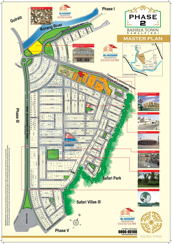 Master Plan Phase 2 Bahria Town Rawalpindi Al Hussain