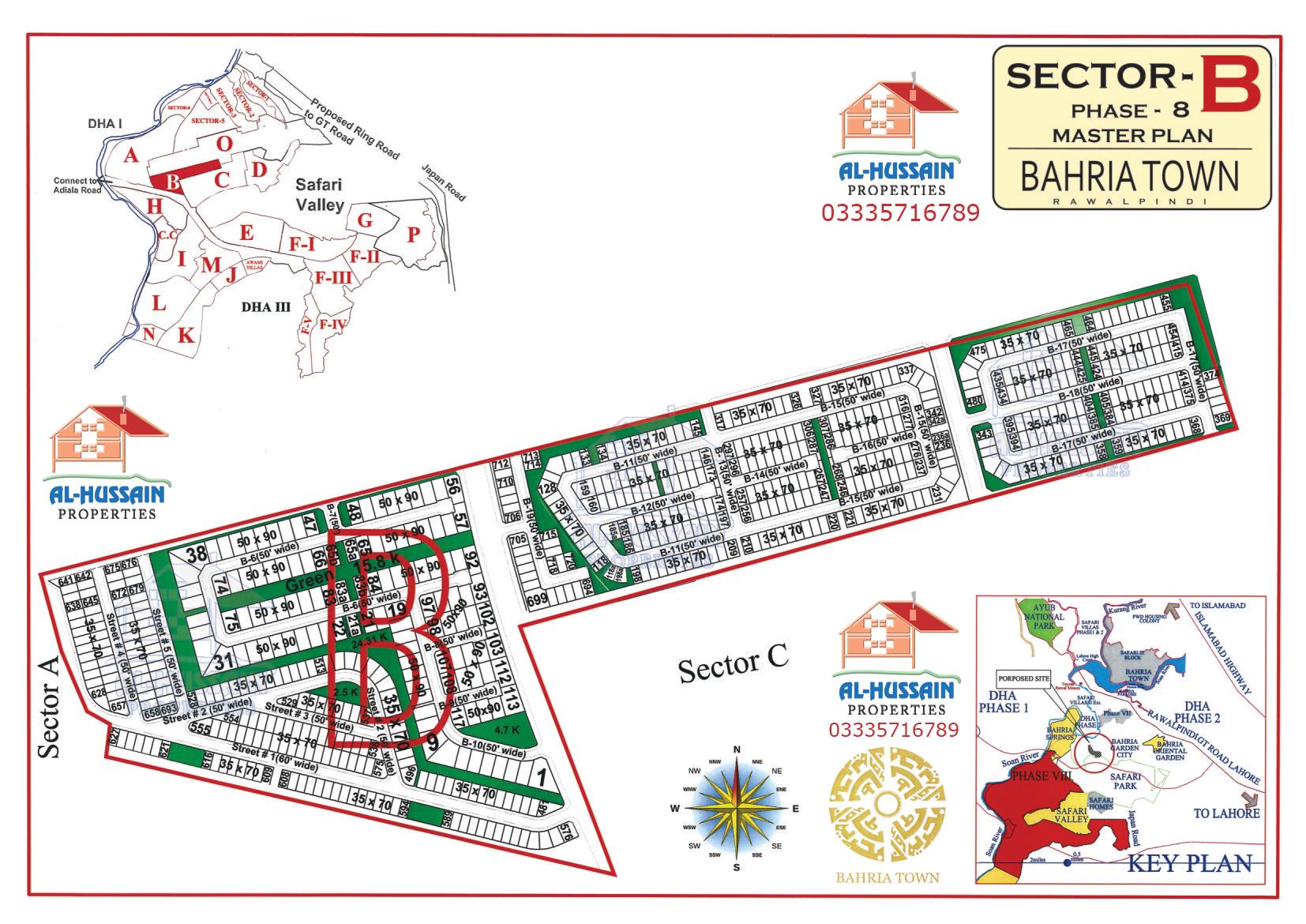 Sector B Phase 8 Bahria Town Rawalpindi