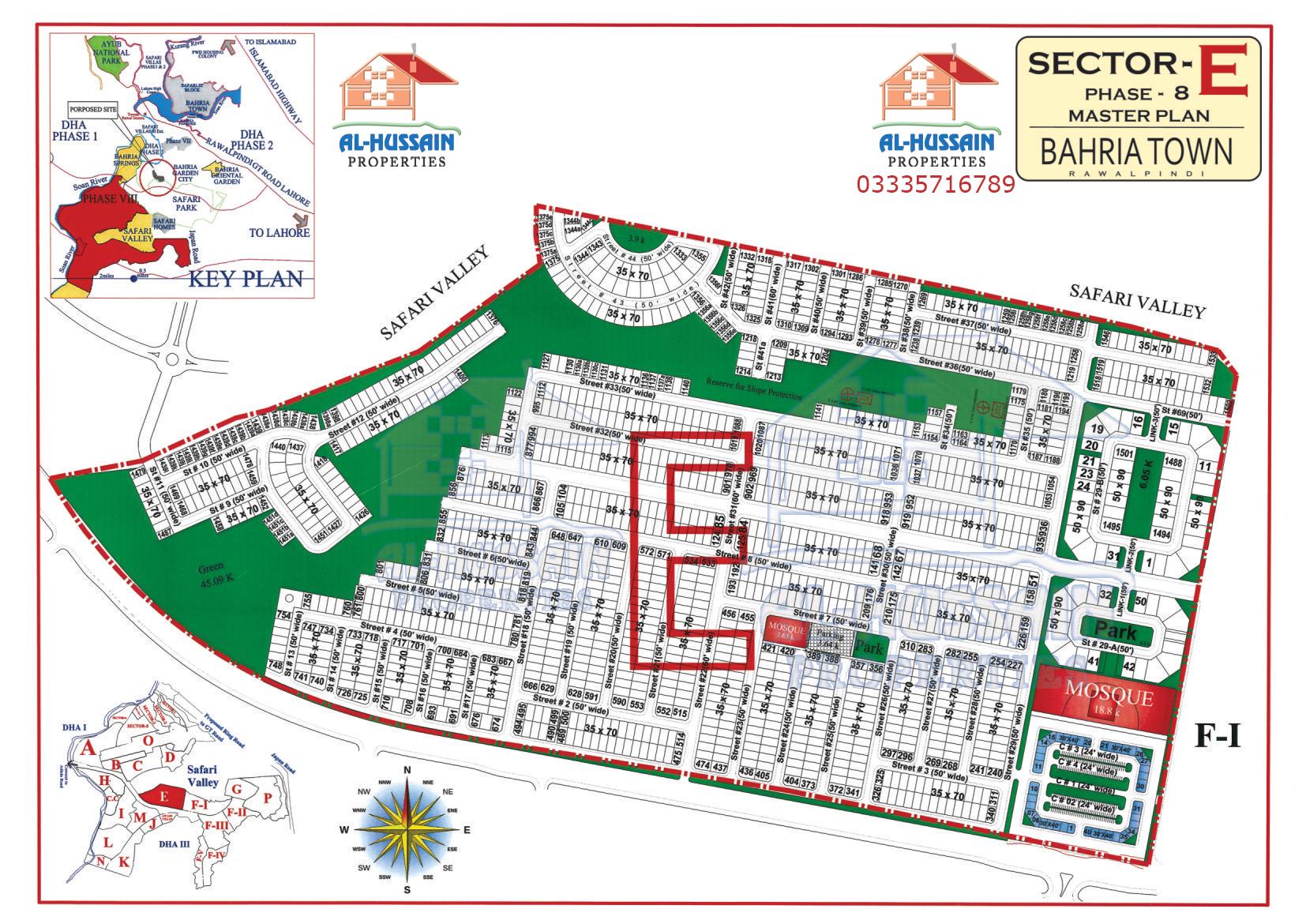 Sector E Phase 8 Bahria Town Rawalpindi