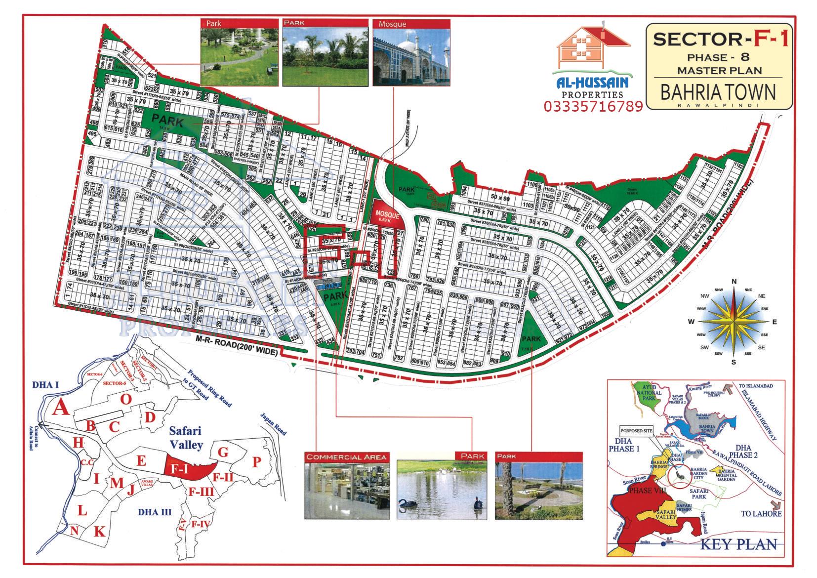 Master Plan Sector F 1 Phase 8 Bahria Town Rawalpindi