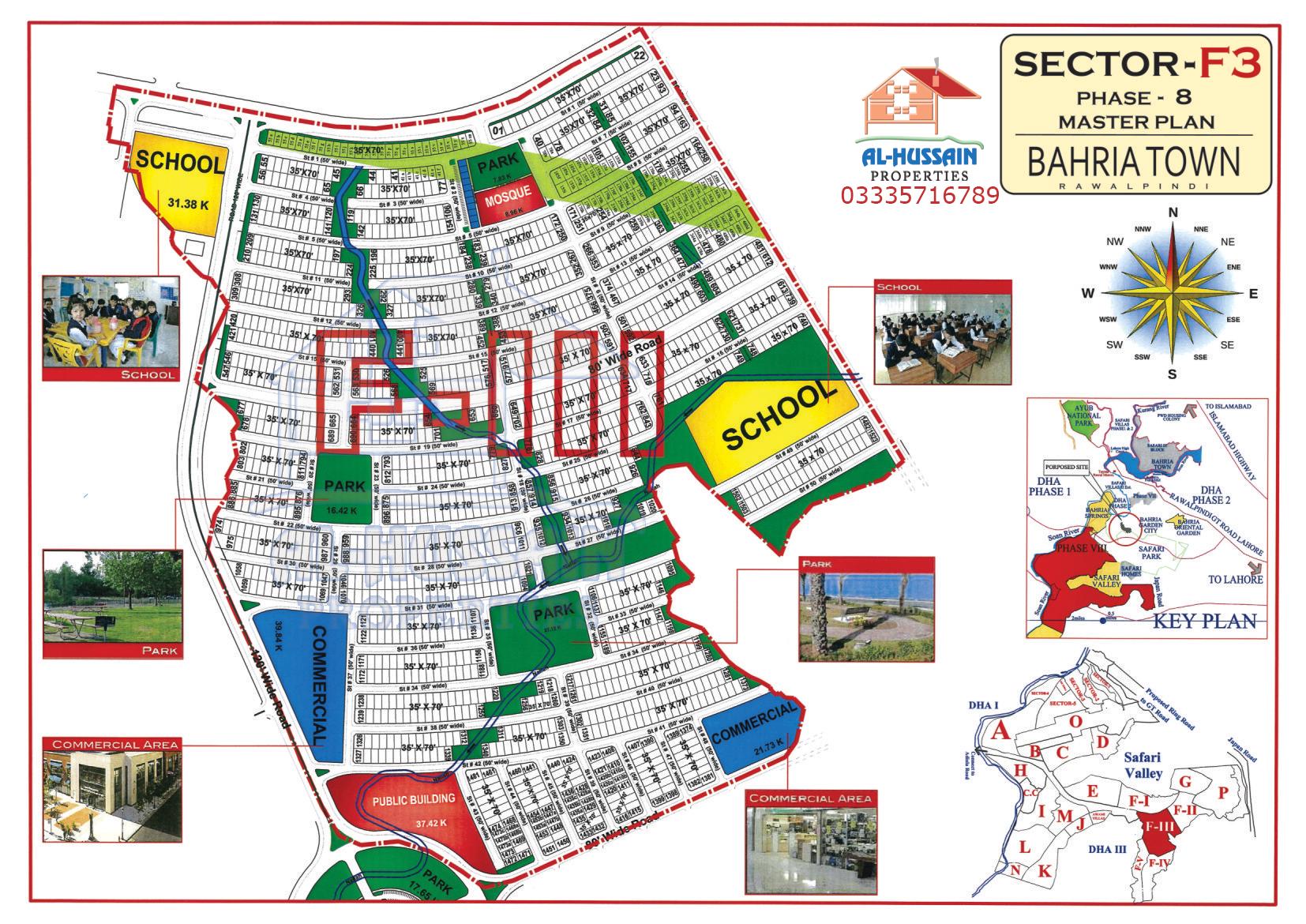Master Plan Sector F 3 Phase 8 Bahria Town Rawalpindi