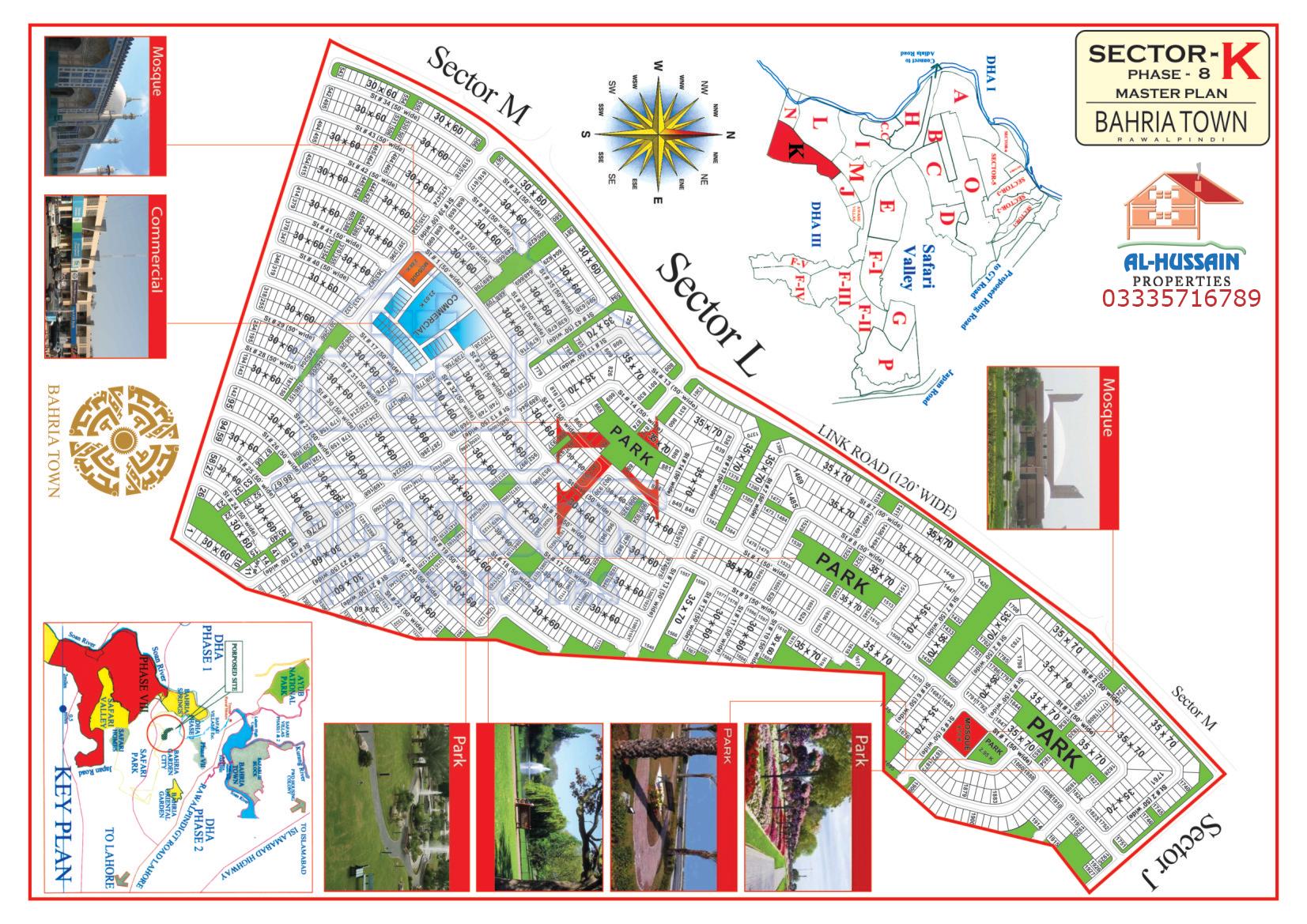 Master Plan Sector K Phase 8 Bahria Town Rawalpindi
