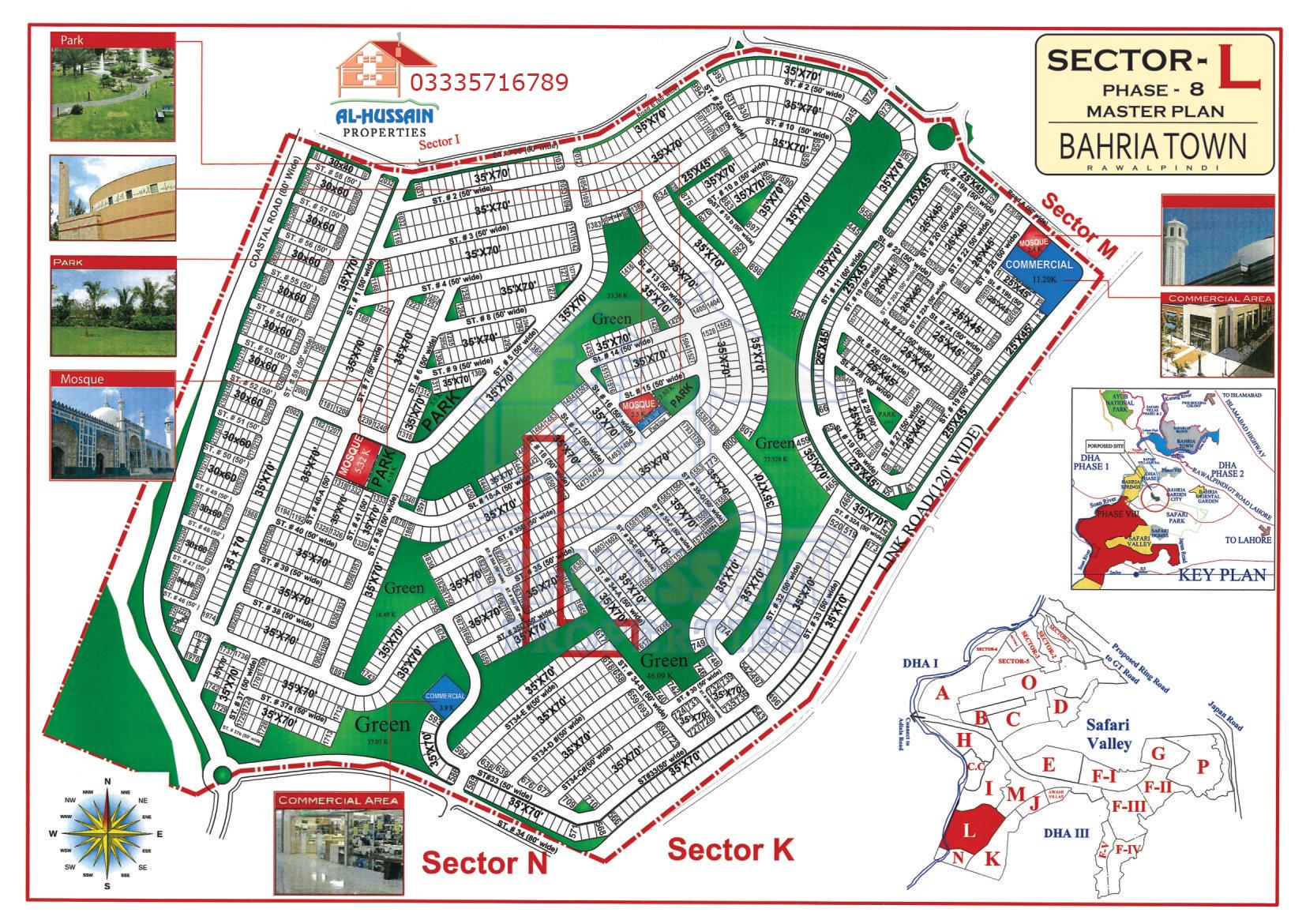 Master Plan Sector L Phase 8 Bahria Town Rawalpindi