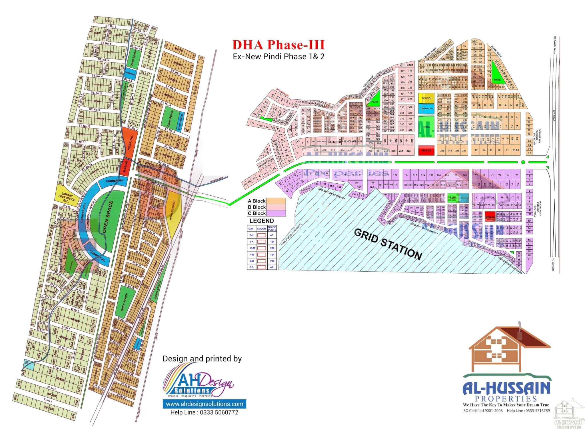 Dha Phase Iii Islamabad Map