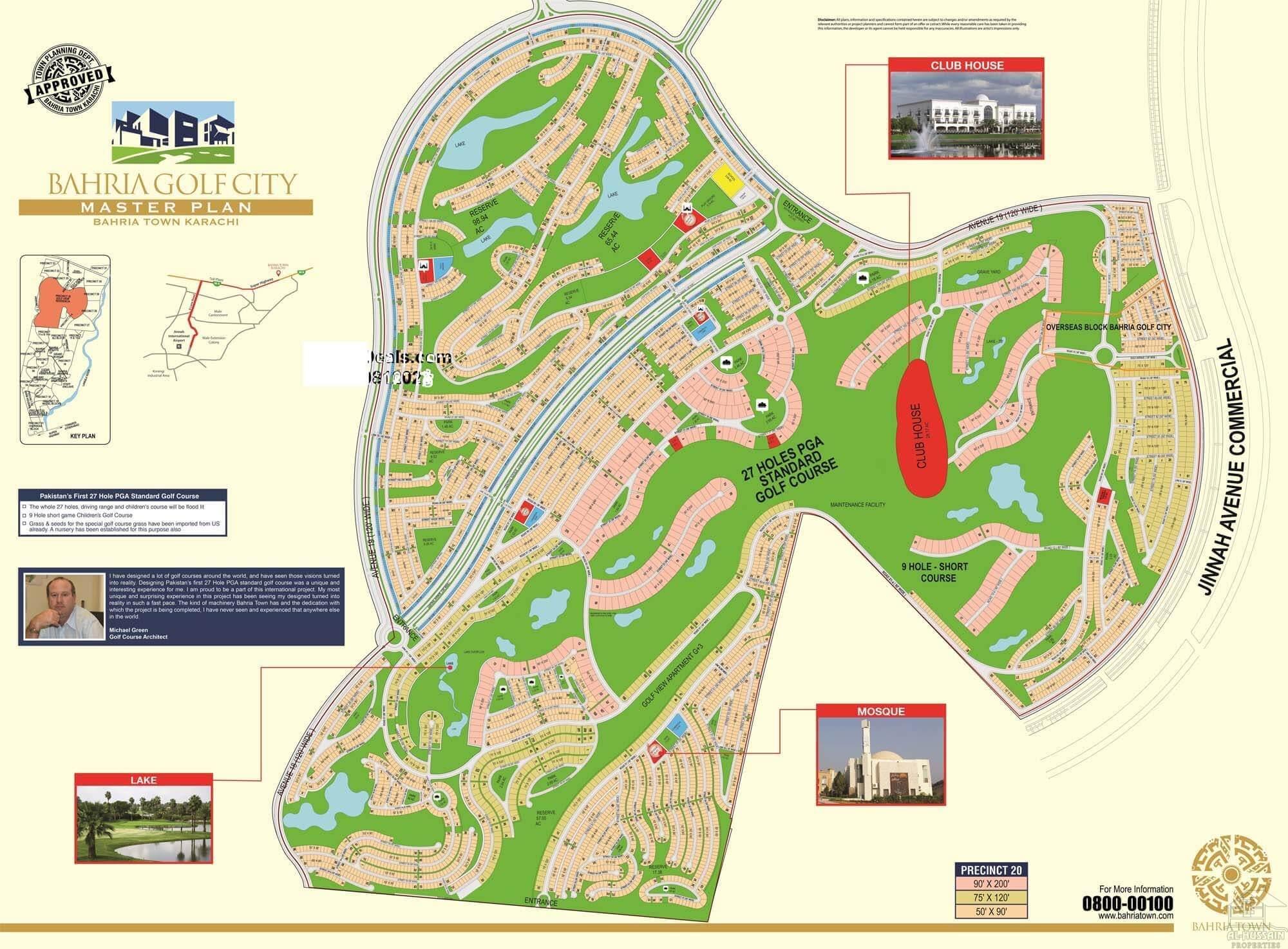 Bahria Golf City Karachi Map | Al Hussain Properties