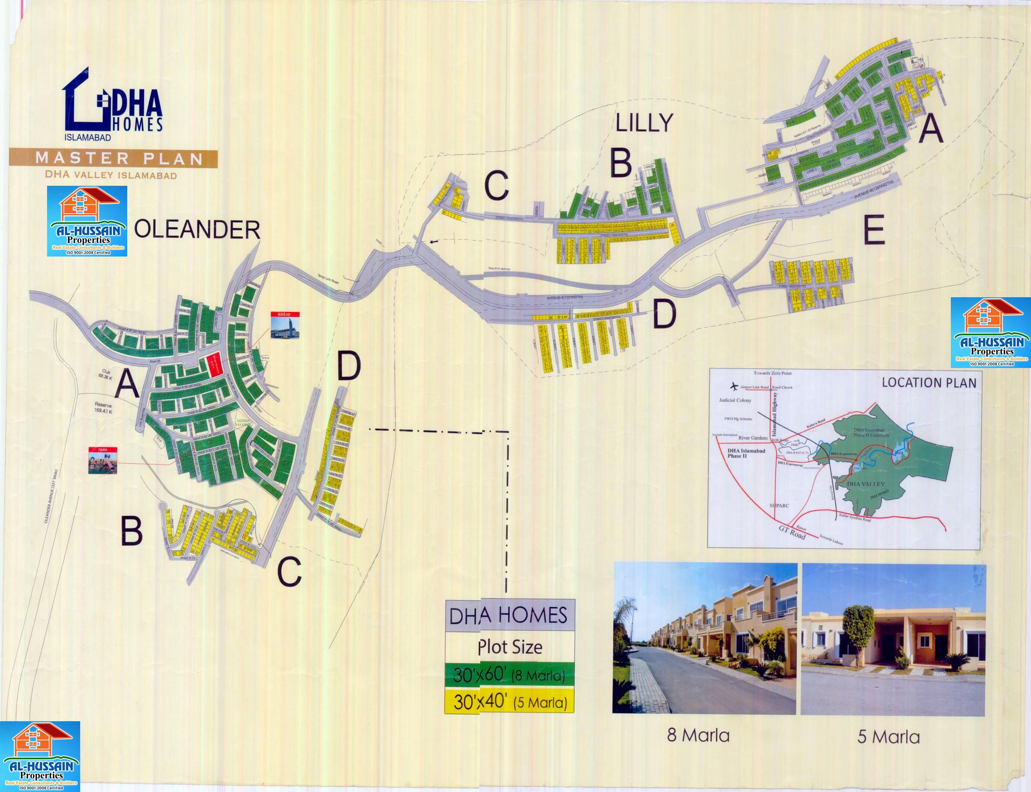 DHA Homes Map latest map