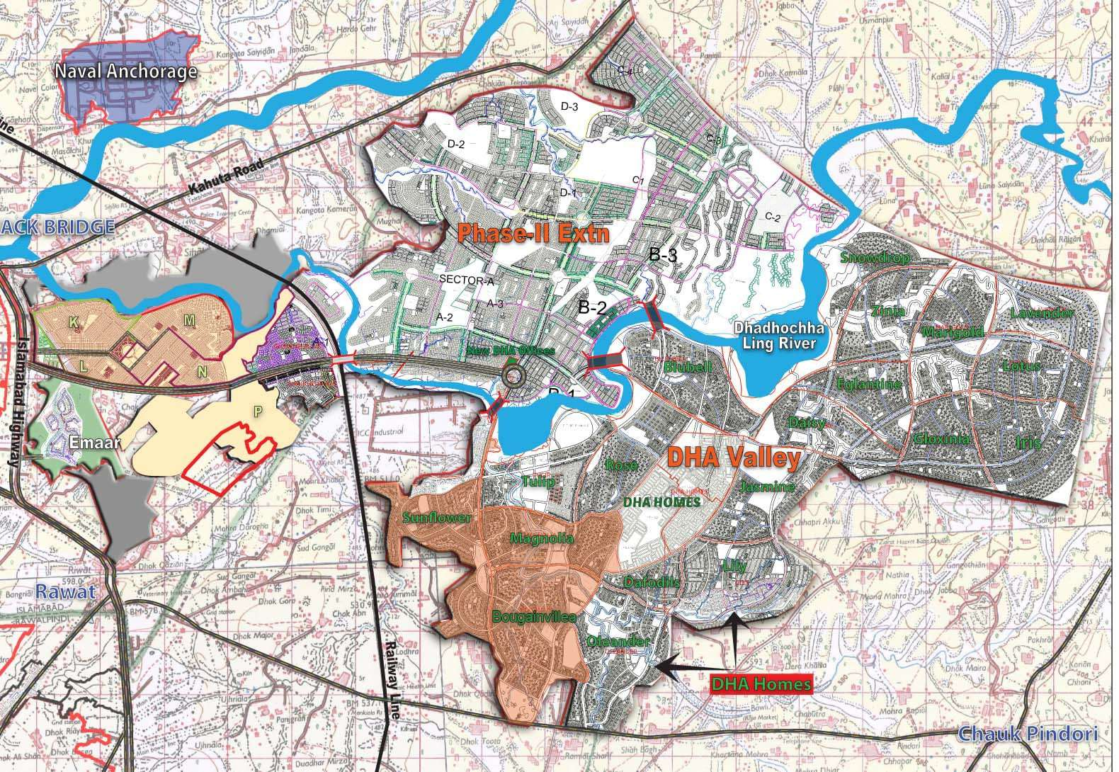 DHA-Valley-Islamabad-Location-Map Valley Location Map on