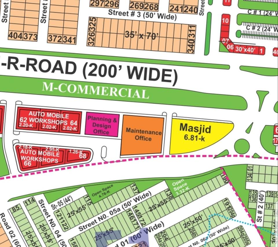 2.02 Kanal (100×110)Commercial Plot in Bahria Town Phase 8 Rawalpindi