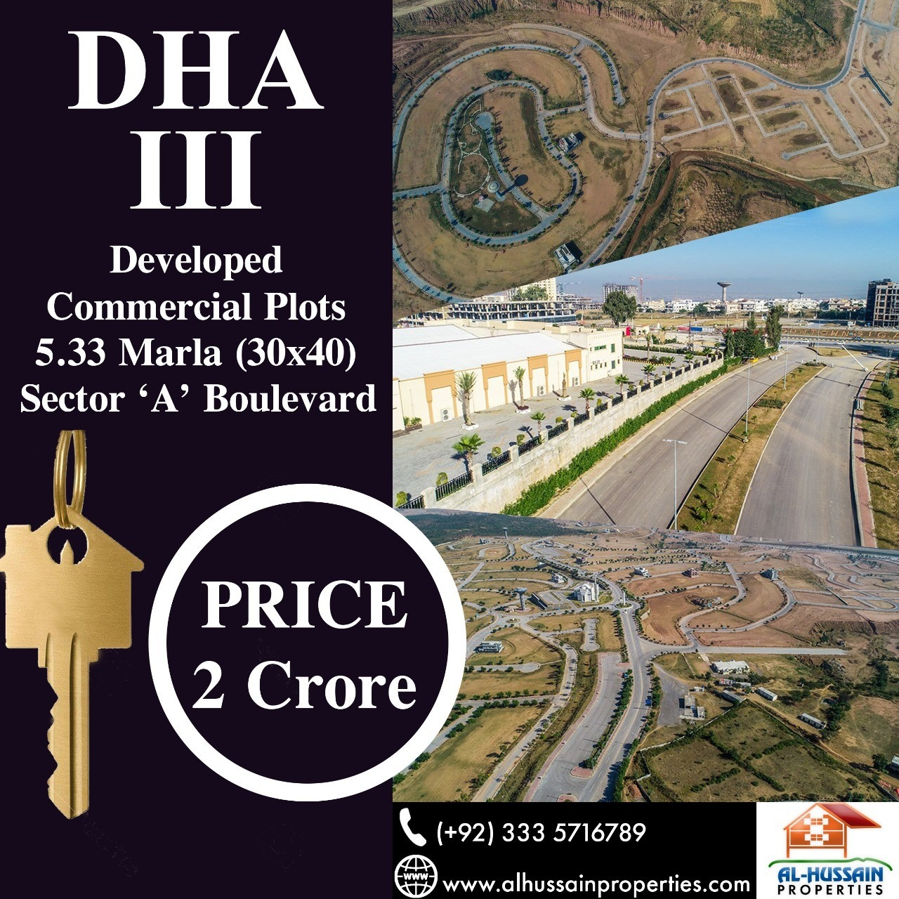5.33 Marla ( 30×40 ) Commercial Plot in DHA Phase 3 Rawalpindi