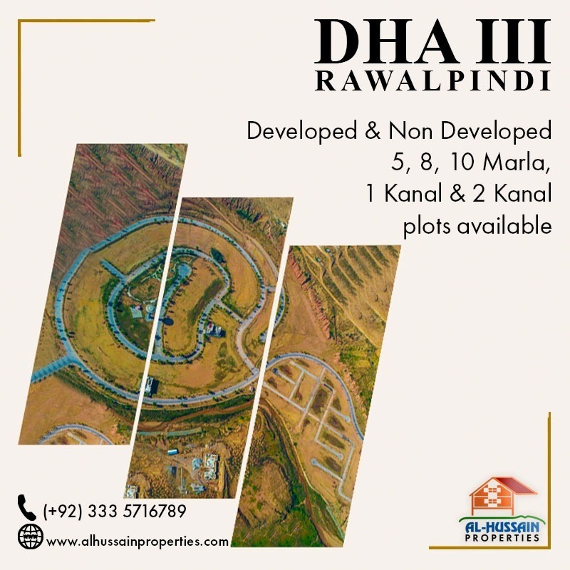 DHA Phase 3 Rawalpindi developed plots for sale