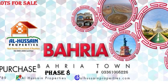 Bahria town phase 8 residential plots for sale