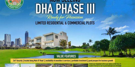 DHA-III Serene City Commercial Plot on Instalments